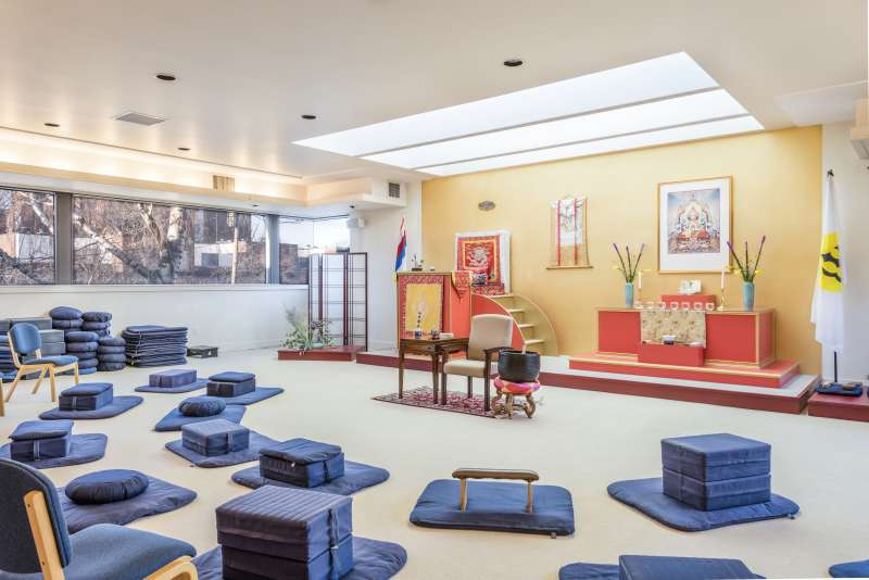 Main Meditation Hall with Cushions